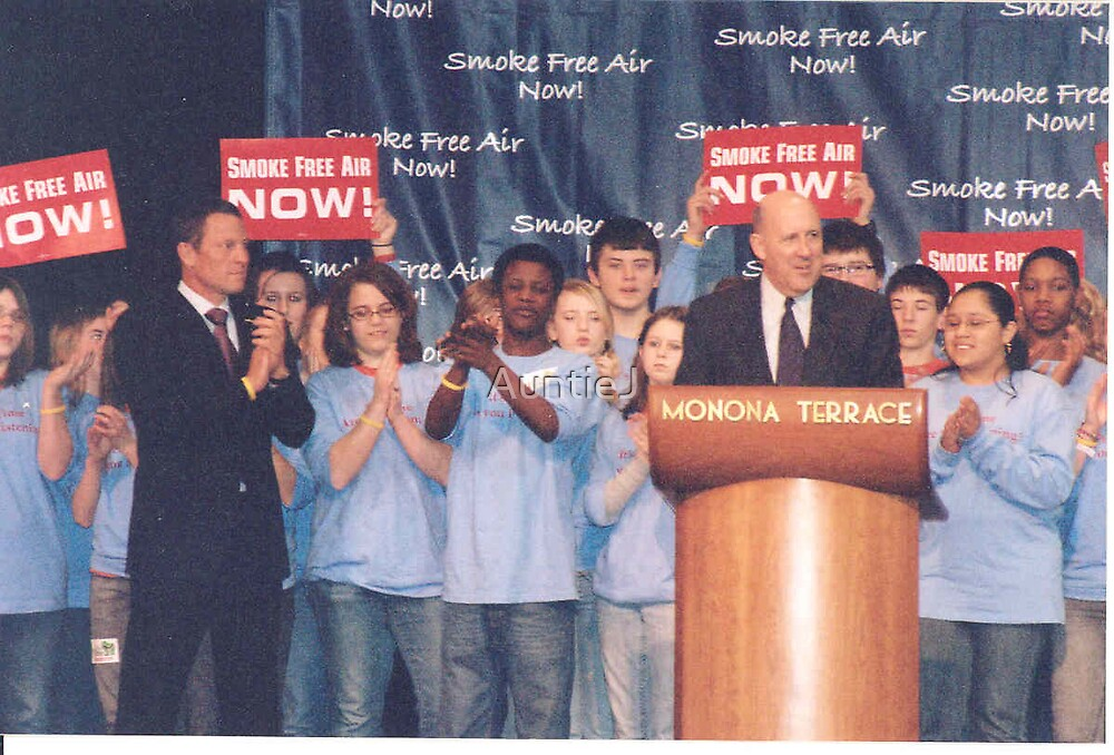 Governor & Lance Armstrong-Smoke Free Rally by AuntieJ
