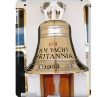 Ship's Bell, Royal Yacht Britannia iPad Case/Skin