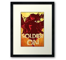 IwillSoldierON Framed Print