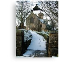 Easington Church--North Yorks Canvas Print