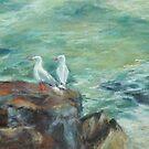 On the rocks by Terri Maddock