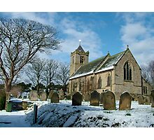 Easington church//side view Photographic Print