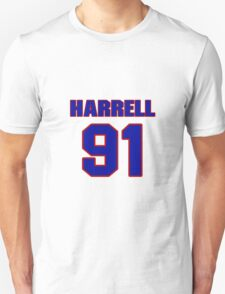 National football player Justin Harrell jersey 91 T-Shirt