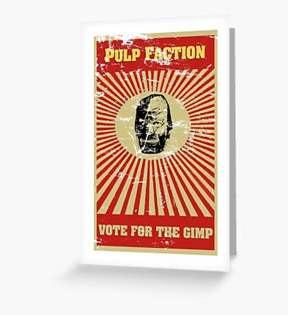 Pulp Faction - The Gimp Greeting Card