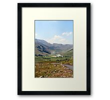 Smoke in the Hills! Framed Print