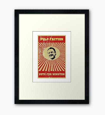 Pulp Faction - Winston Framed Print