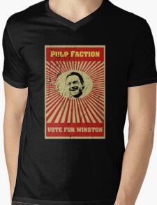 Pulp Faction - Winston Mens V-Neck T-Shirt
