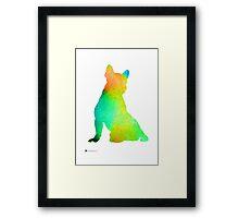 French bulldog image art silhouette Framed Print
