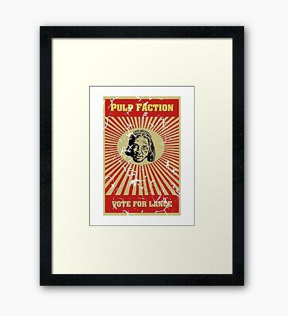 Pulp Faction - Lance Framed Print