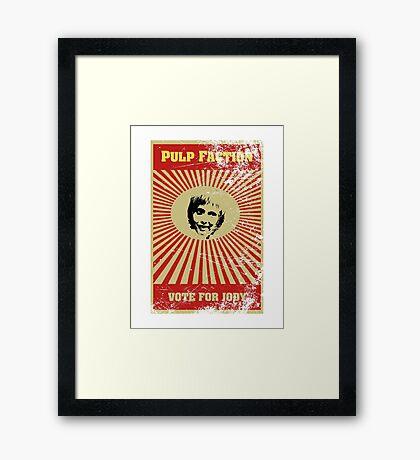 Pulp Faction - Jody Framed Print