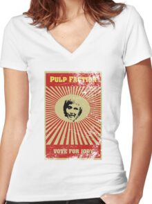 Pulp Faction - Jody Women's Fitted V-Neck T-Shirt