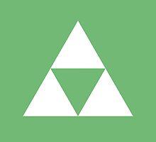 The Legend of Zelda Symbol - Super Smash Bros. (white) by hopperograss