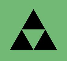 The Legend of Zelda Symbol - Super Smash Bros. (black) by hopperograss