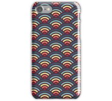 rainbowaves (dark) iPhone Case/Skin