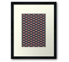 rainbowaves (dark) - pattern Framed Print