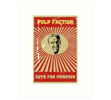 Pulp Faction - Pumpkin Art Print