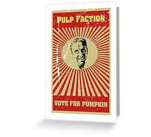 Pulp Faction - Pumpkin Greeting Card