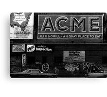 Acme advert NYC Canvas Print