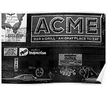 Acme advert NYC Poster