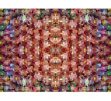 Abstract Mosaic in Red Rainbow Photographic Print