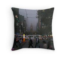 Melbourne @ Night Throw Pillow