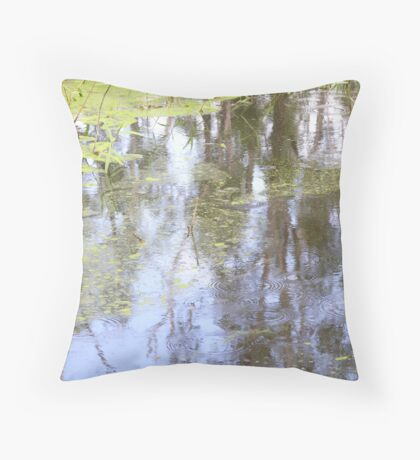 swamp pond Throw Pillow