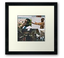 FLATBUSH ZOMBIES COLLAGE Framed Print