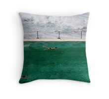 Calm Amid the Storm Throw Pillow