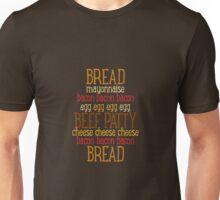 Burger Typography - Meatlover Unisex T-Shirt