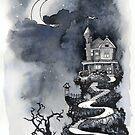 Long twilight mansion by Garth Horsfield