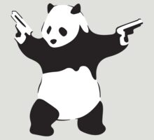 Panda with pistols by PopGraphics