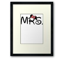 Mrs. Mouse Ears Newlywed Framed Print