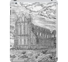 My pencil drawing of Whitby Abbey, Yorkshire - all products bar duvet iPad Case/Skin