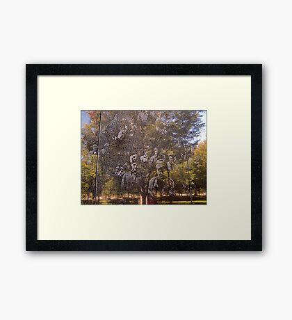 Ghosts Of War (in grainy marble) Framed Print