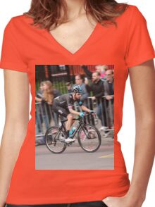 Bradley Wiggins - 2014 Tour of Britain Women's Fitted V-Neck T-Shirt