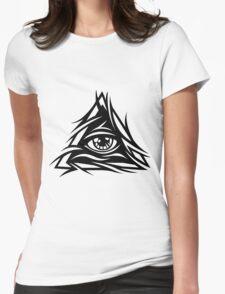 Illuminati Black - Trippy - Simple Womens Fitted T-Shirt
