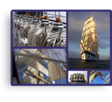 Sailing collage Canvas Print
