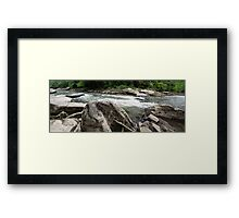 HDR Composite - River Rapids Framed Print