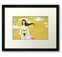 Wind Girl Framed Print