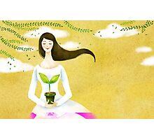 Wind Girl Photographic Print