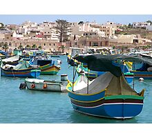 Marsaxlokk Bay Photographic Print