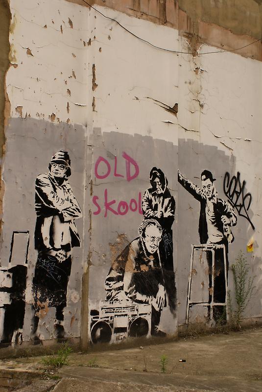 Old Skool - Banksy by Kiwikiwi