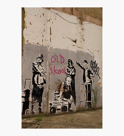 Old Skool - Banksy Photographic Print