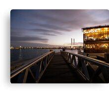 Melbourne Docklands at Sunset Canvas Print