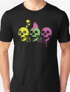 Punk Colourful Skulls with a Flower T-Shirt