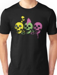 Punk Colourful Skulls with a Flower Unisex T-Shirt