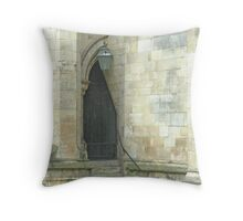 A Doorway to York's Minster Throw Pillow