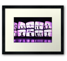 interior shoe store Framed Print