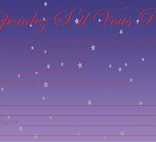 RSVP card for fundraiser by ghazala