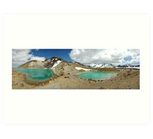 emerald lakes Art Print